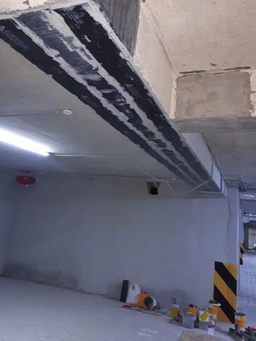 усиление бетона углепластиковой лентой